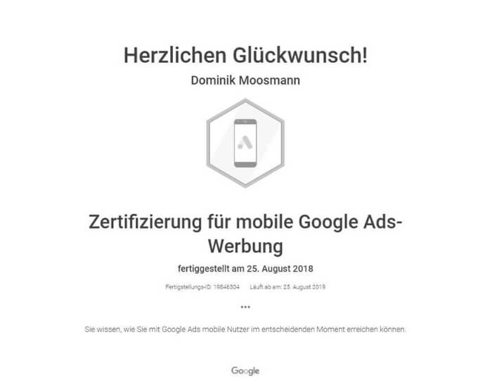 Mobile Google Ads Werbung