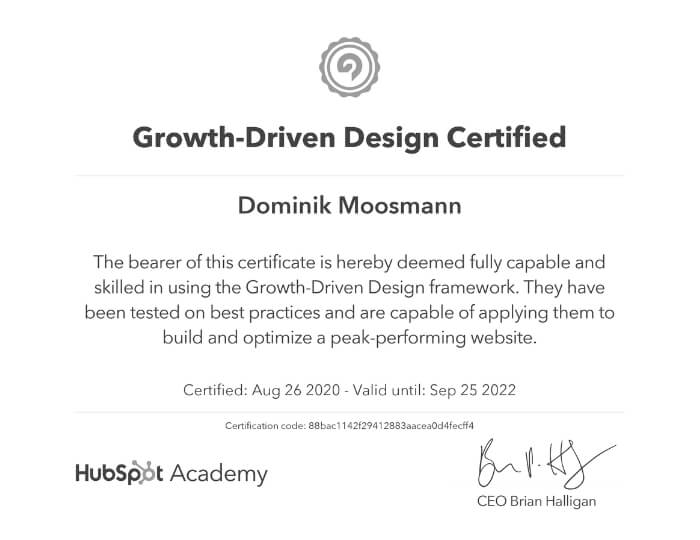 Growth-Driven Design Certified